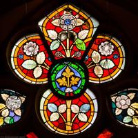 Heidelberg - Heiliggeistkirche - Südschiff - 4. Joch, von Westen aus gezählt - Ausschnitt aus dem Maßwerk des Ornamentfensters (aufgenommen im März 2013, am frühen Nachmittag)