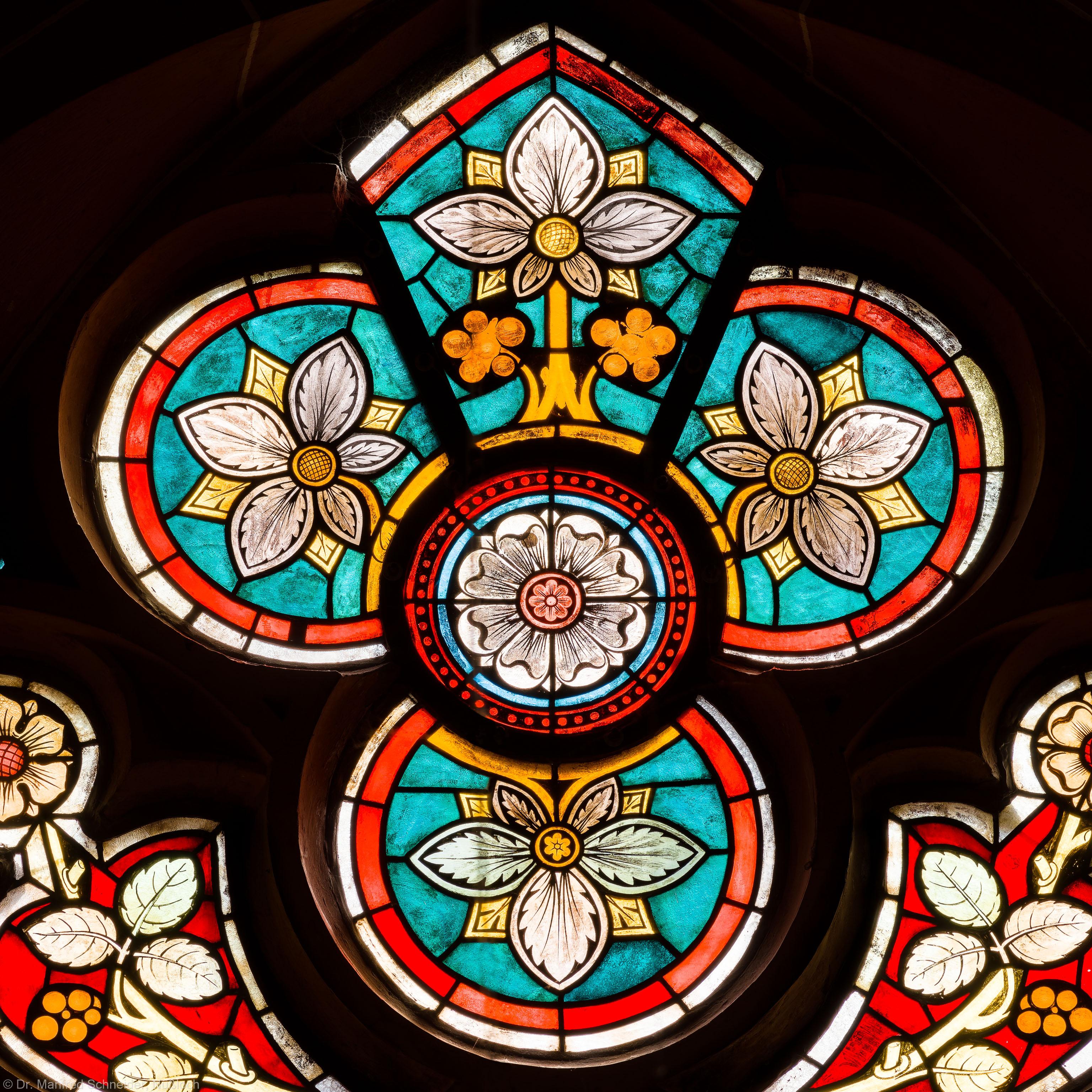 Heidelberg - Heiliggeistkirche - Südschiff - 3. Joch, von Westen aus gezählt - Ausschnitt aus dem Maßwerk des Ornamentfensters (aufgenommen im März 2013, am frühen Nachmittag)