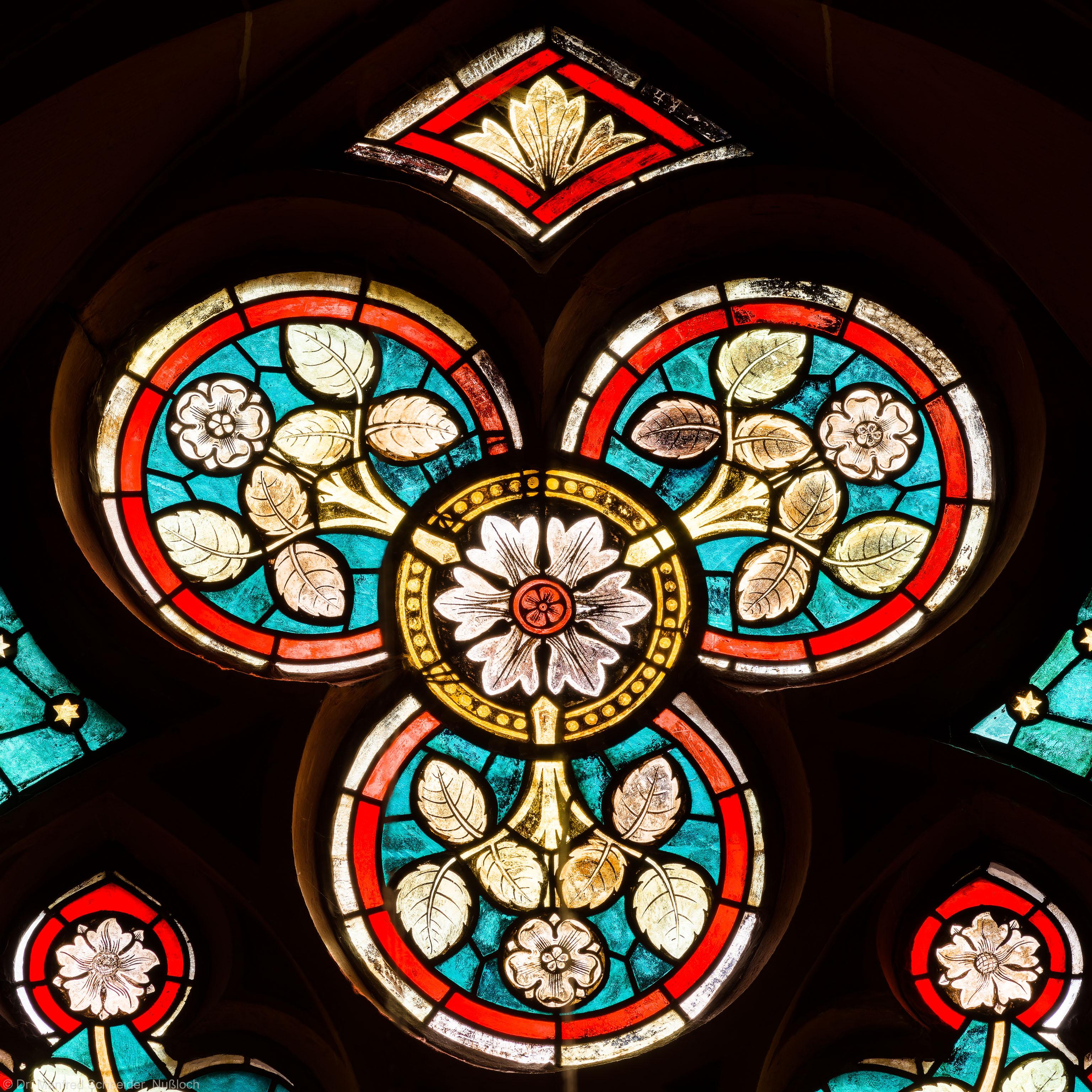 Heidelberg - Heiliggeistkirche - Südschiff - 2. Joch, von Westen aus gezählt - Ausschnitt aus dem Maßwerk des Ornamentfensters (aufgenommen im März 2013, am Nachmittag)