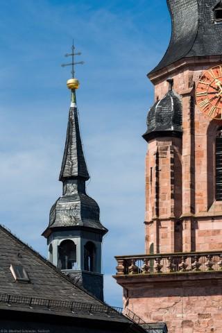 Heidelberg - Heiliggeistkirche - Ostseite - Blick auf den Dachreiter mit Scheideglocke (aufgenommen im Juli 2013, am späten Vormittag)