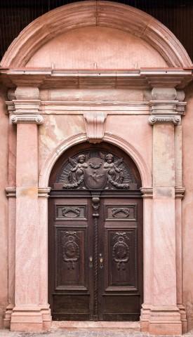 Heidelberg - Heiliggeistkirche - Südseite - Östliches Südportal - Blick auf das gesamte Portal (aufgenommen im November 2013, am späten Vormittag)