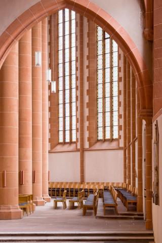 Heidelberg - Heiliggeistkirche - Chor - Blick vom Südschiff in den südlichen Chor (aufgenommen im Januar 2014, am Nachmittag)