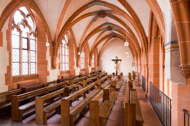 Heidelberg - Heiliggeistkirche - Nordempore - Blick von Südwest auf die Nordempore (aufgenommen im Januar 2014, am späten Vormittag)