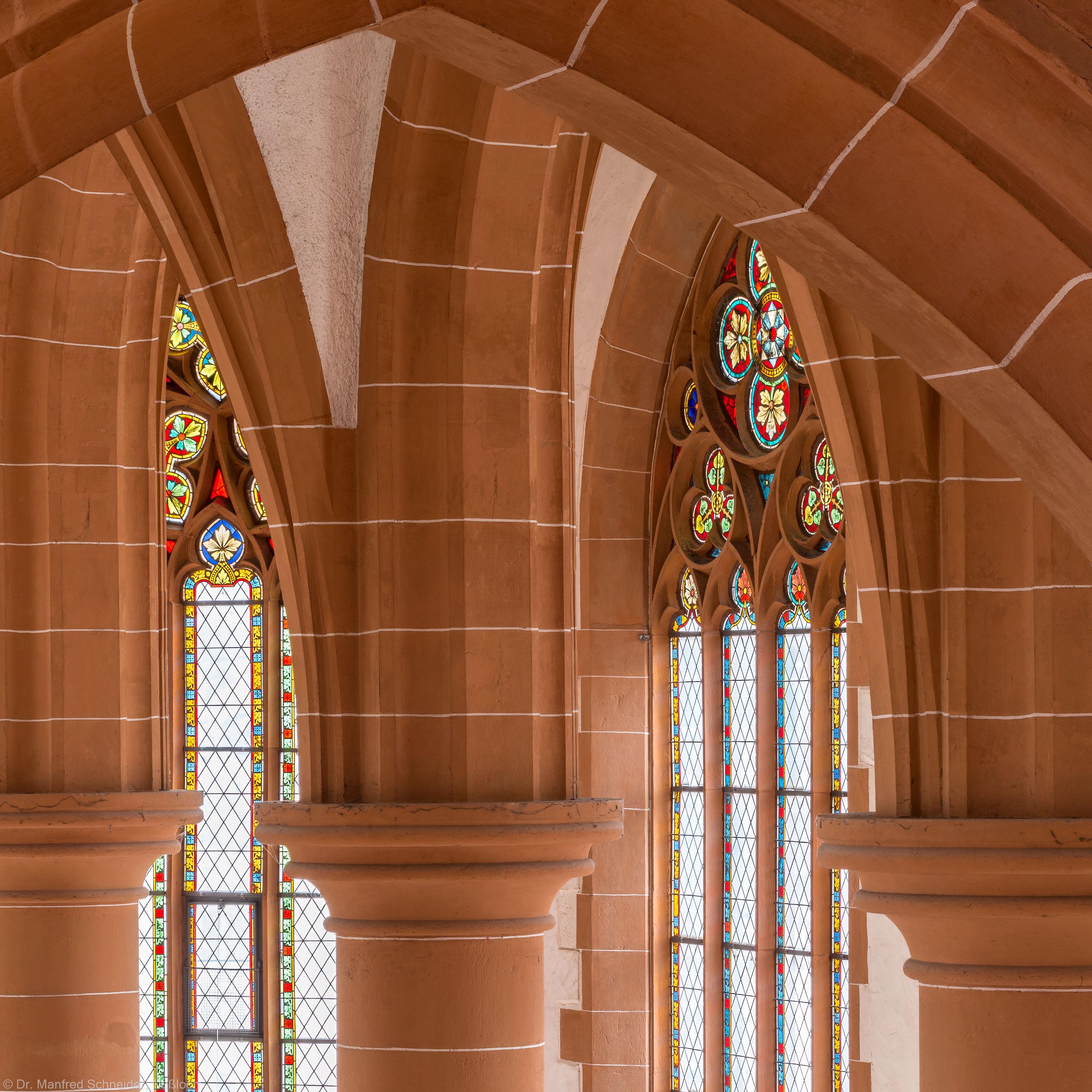 Heidelberg - Heiliggeistkirche - Chor - Blick von der Nordempore nach Südosten in das Gewölbe des Chors (aufgenommen im Februar 2014, am frühen Nachmittag)