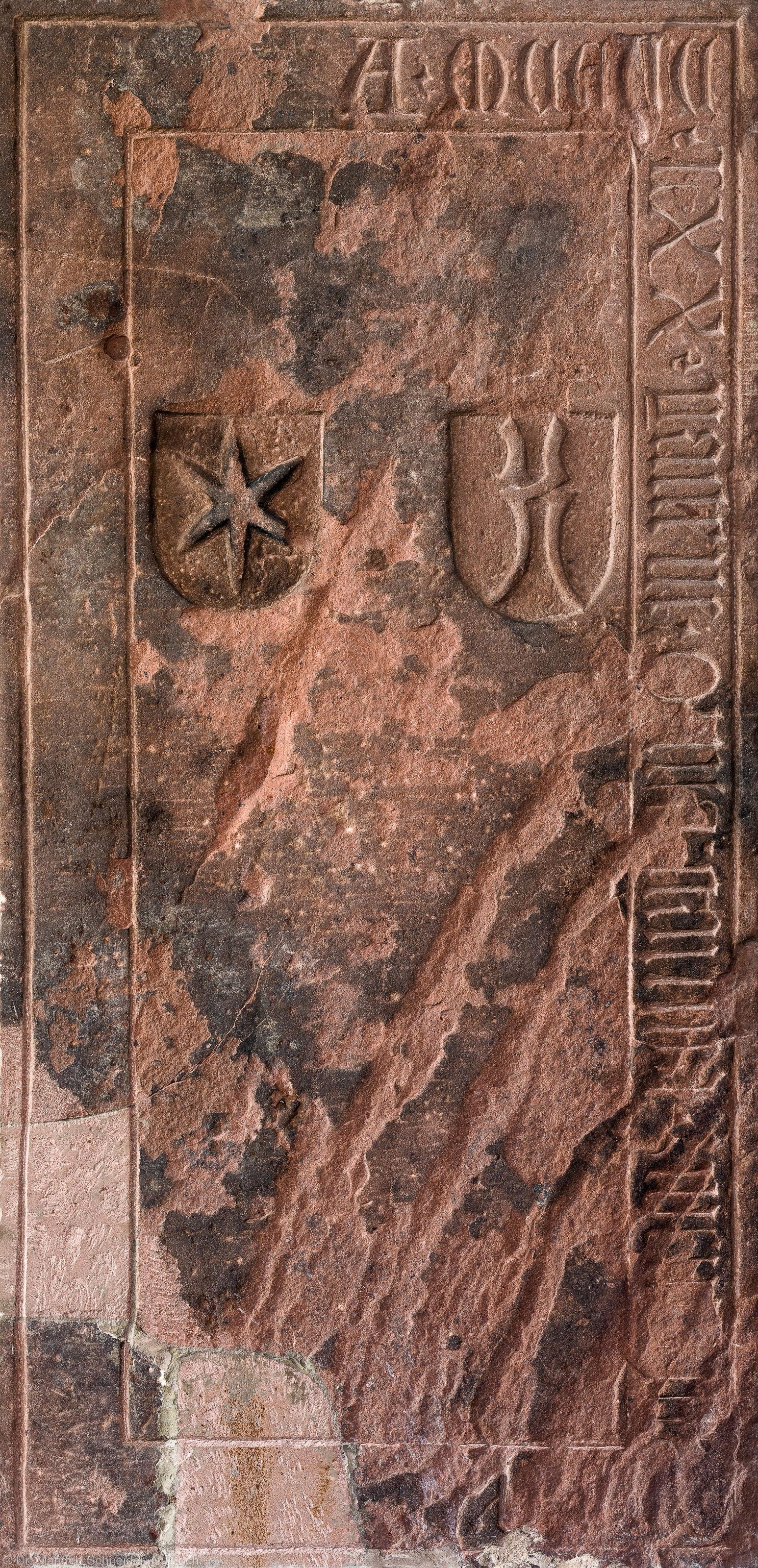 Heidelberg - Heiliggeistkirche - Südschiff - 2. Epitaph, von Westen aus gezählt, an Wand des südlichen Seitenschiffs (aufgenommen im Februar 2014, am frühen Nachmittag)