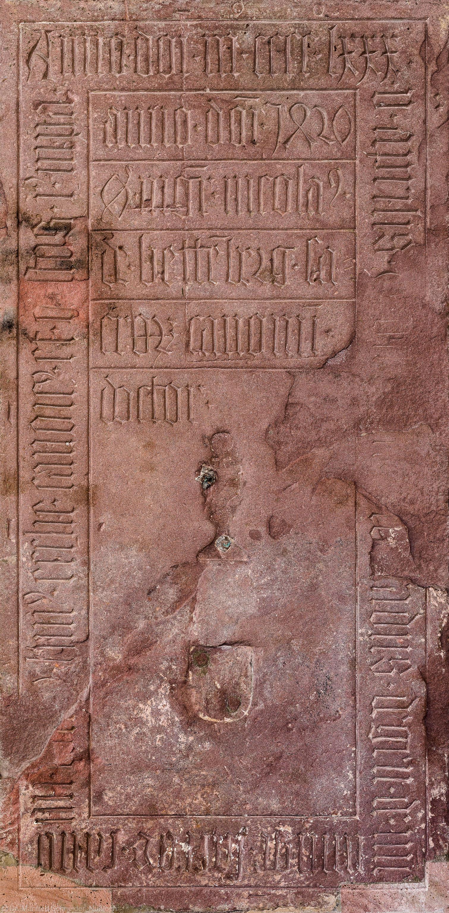 Heidelberg - Heiliggeistkirche - Südschiff - 8. Epitaph, von Westen aus gezählt, an Wand des südlichen Seitenschiffs (aufgenommen im Februar 2014, um die Mittagszeit)