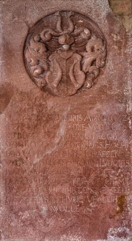 Heidelberg - Heiliggeistkirche - Südschiff - 10. Epitaph, von Westen aus gezählt, an Wand des südlichen Seitenschiffs (aufgenommen im Februar 2014, um die Mittagszeit)