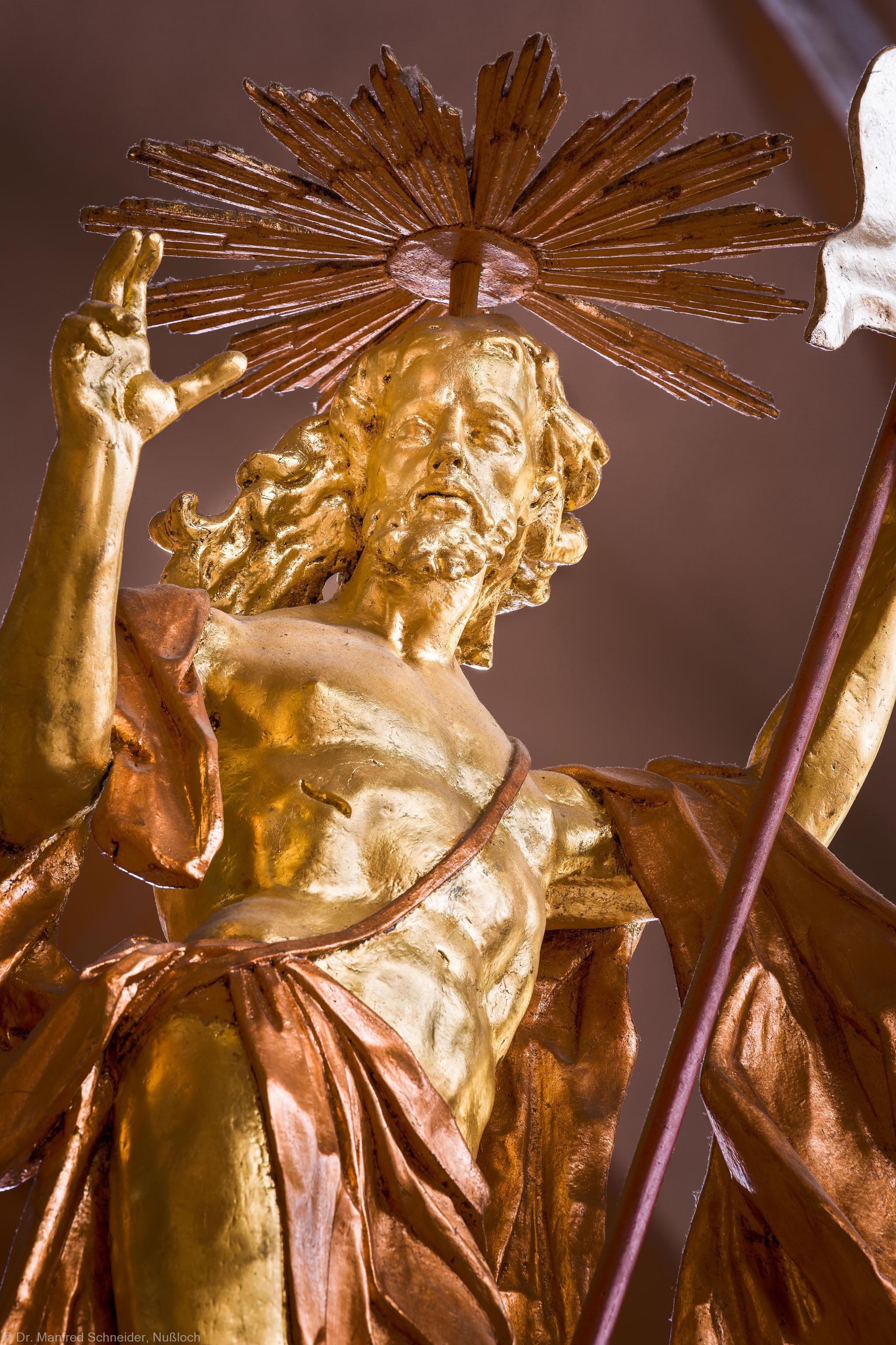 Heidelberg - Heiliggeistkirche - Kanzel - Christusfigur der Kanzel (aufgenommen im Oktober 2014, am Nachmittag)