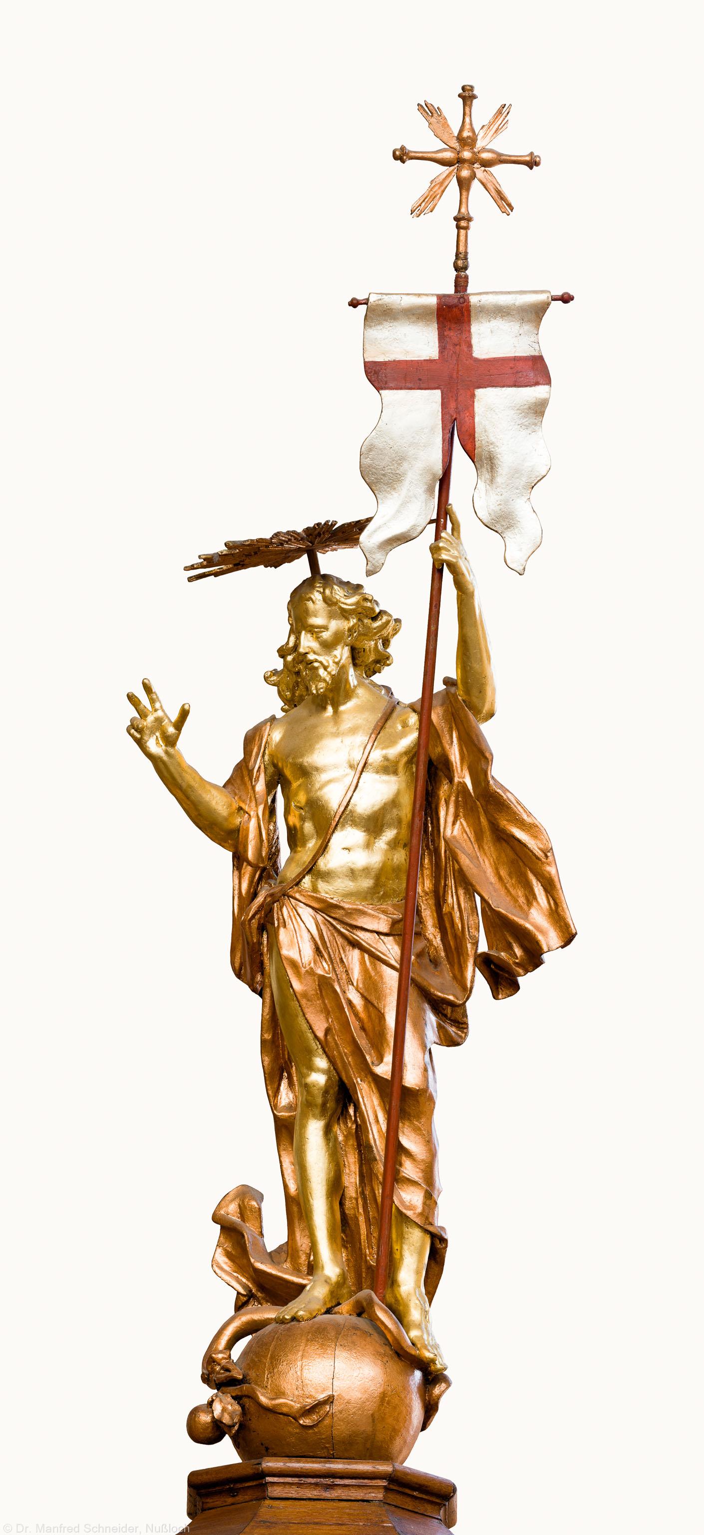 Heidelberg - Heiliggeistkirche - Kanzel - Christusfigur der Kanzel (aufgenommen im Februar 2015, am Nachmittag)