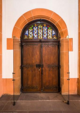 Heidelberg - Heiliggeistkirche - Nordseite - Mittleres Nordportal (aufgenommen im März 2015, am frühen Nachmittag)