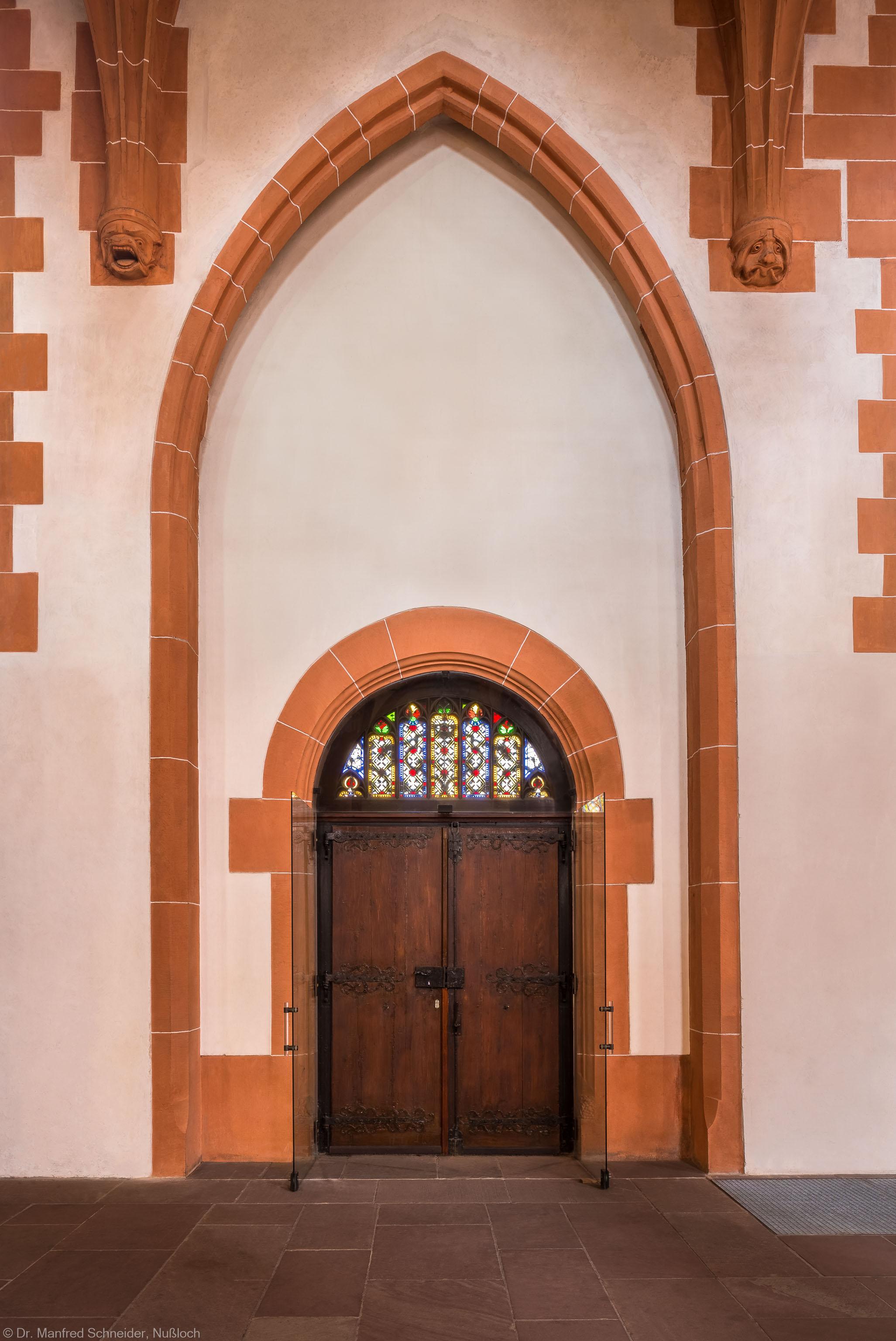 Heidelberg - Heiliggeistkirche - Nordseite - Mittleres Nordportal (aufgenommen im März 2015, am Nachmittag)
