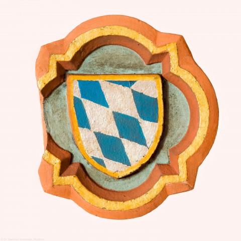 Heidelberg - Heiliggeistkirche - Südempore - Schlußstein, 1. Joch, von Westen aus gezählt (aufgenommen im Mai 2015, am späten Vormittag)