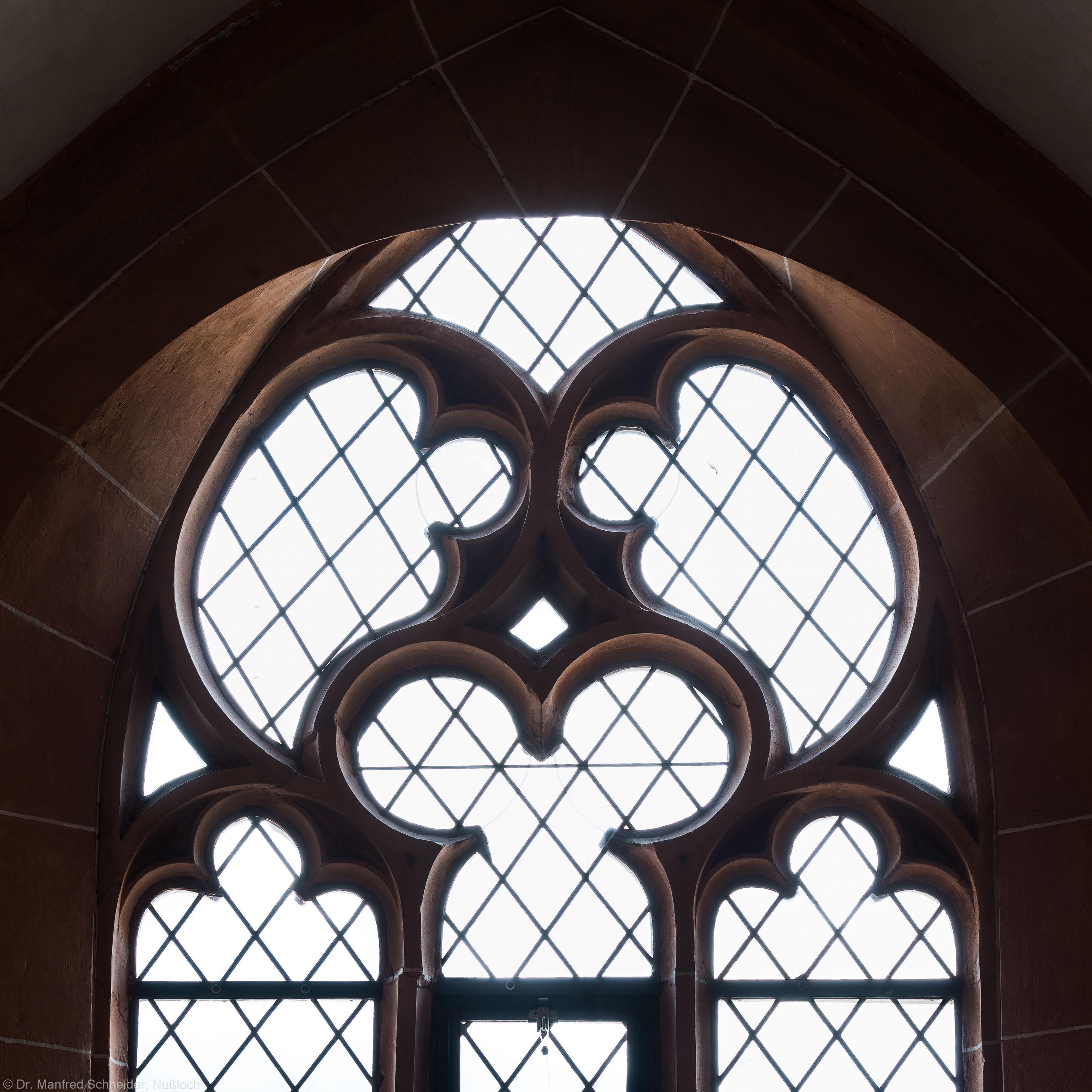 Heidelberg - Heiliggeistkirche - Nordempore - 6. Joch, von Westen aus gezählt - Fenstermaßwerk (aufgenommen im Mai 2015, um die Mittagszeit)