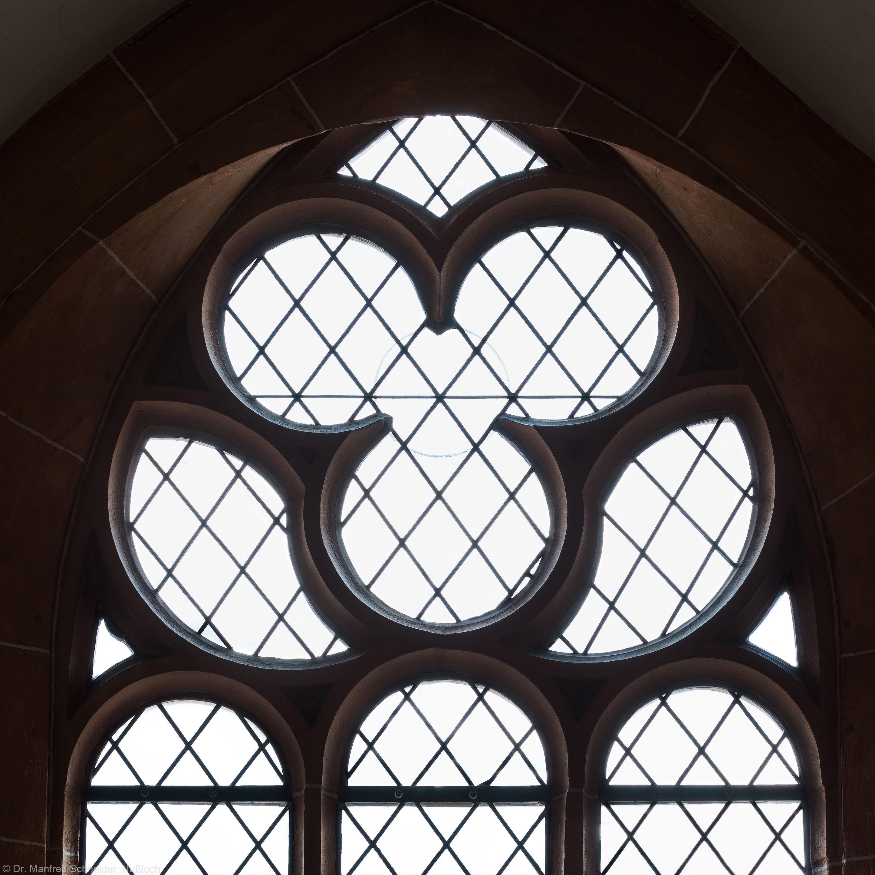 Heidelberg - Heiliggeistkirche - Nordempore - 5. Joch, von Westen aus gezählt - Fenstermaßwerk (aufgenommen im Mai 2015, um die Mittagszeit)