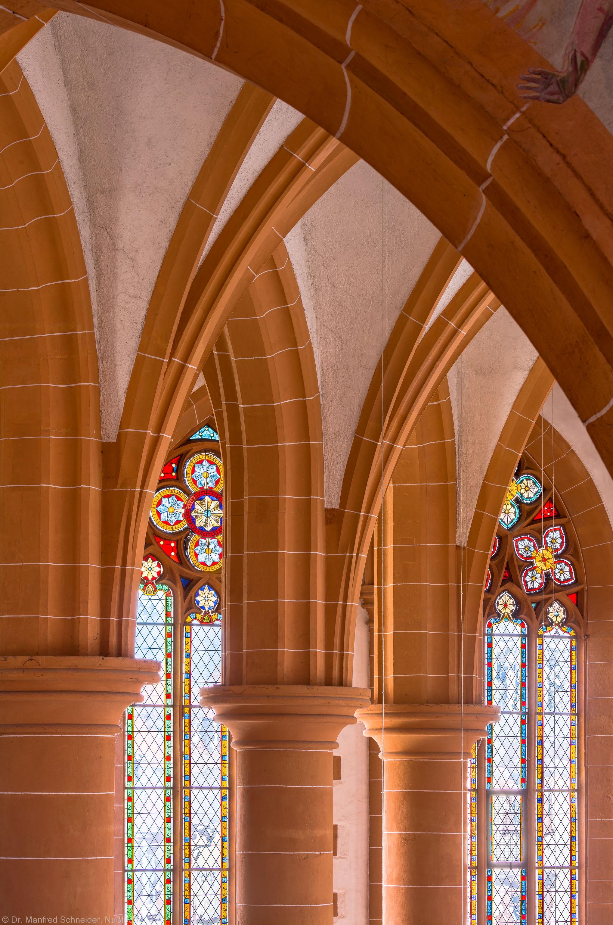 Heidelberg - Heiliggeistkirche - Chor - Blick von der Südempore nach Nordosten in das Gewölbe des Chors (aufgenommen im Mai 2015, am Nachmittag)