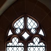 Heidelberg - Heiliggeistkirche - Nordempore - 1. Joch, von Westen aus gezählt - Fenstermaßwerk (aufgenommen im Mai 2015, am späten Nachmittag)