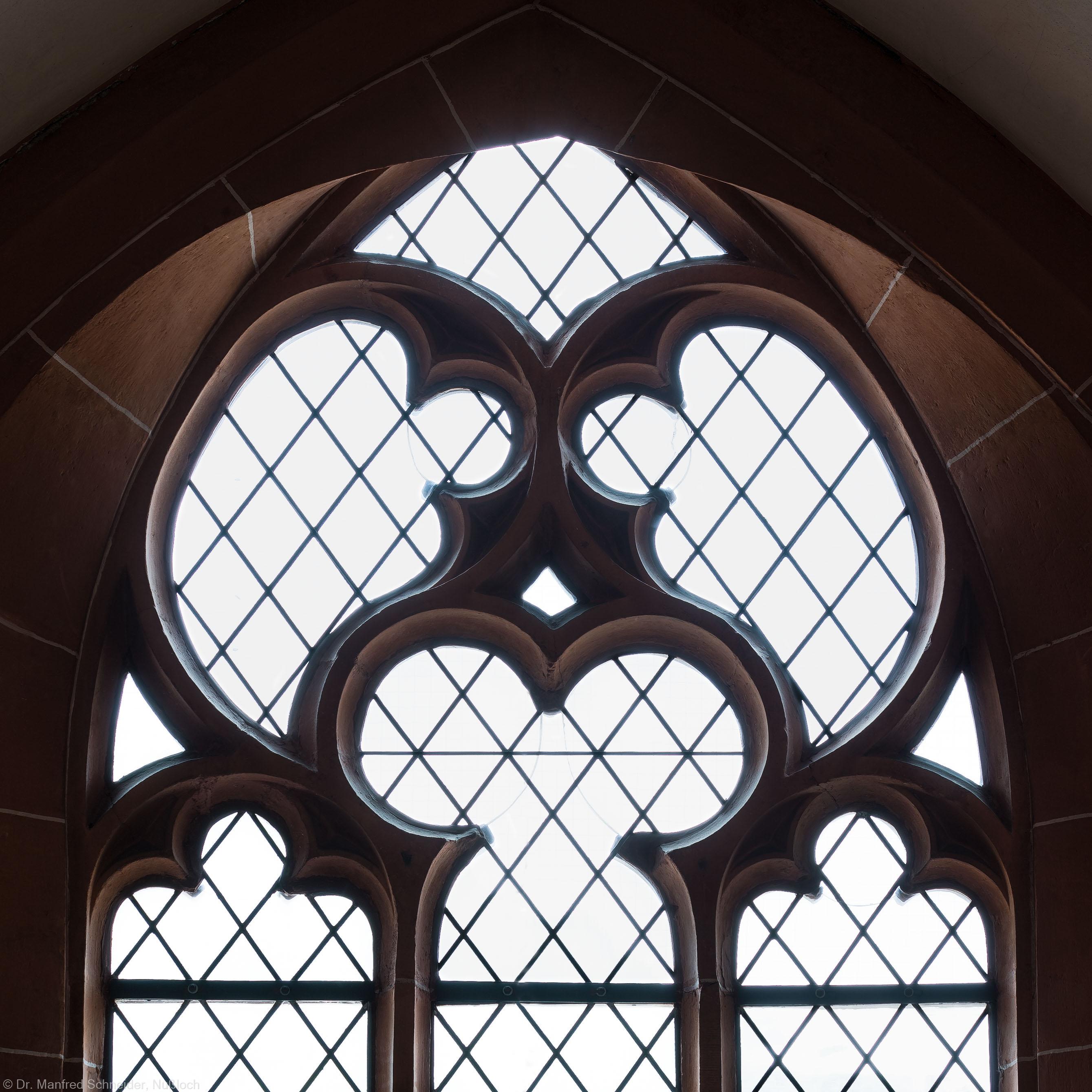 Heidelberg - Heiliggeistkirche - Nordempore - 4. Joch, von Westen aus gezählt - Fenstermaßwerk (aufgenommen im Mai 2015, am Nachmittag)