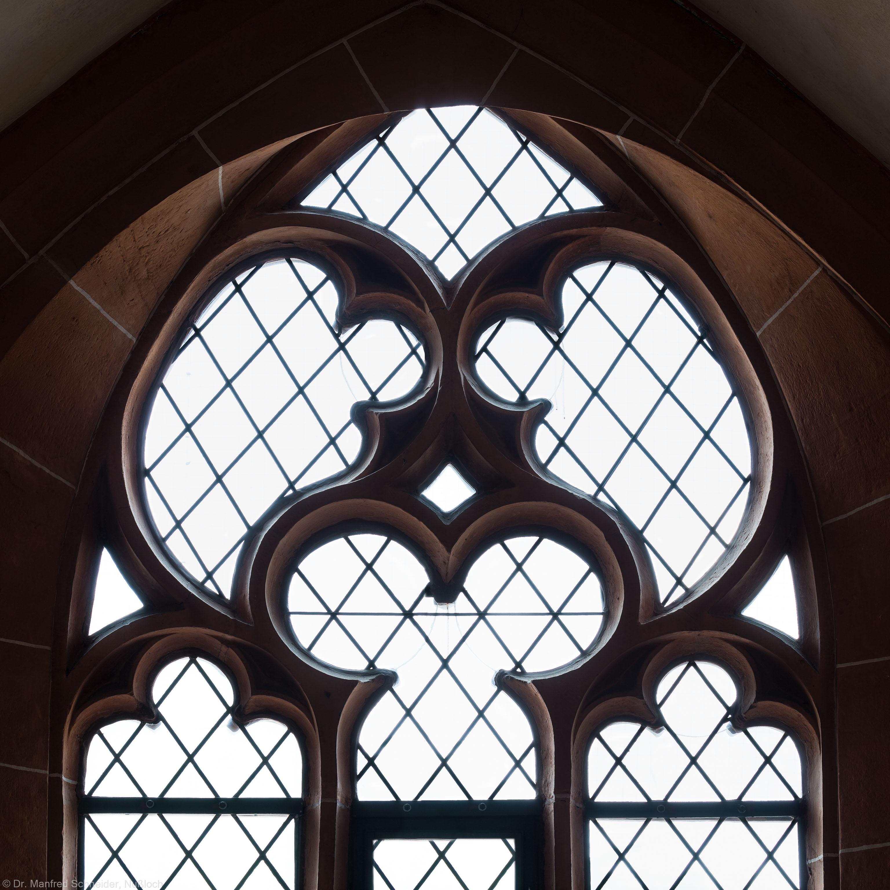 Heidelberg - Heiliggeistkirche - Nordempore - 3. Joch, von Westen aus gezählt - Fenstermaßwerk (aufgenommen im Mai 2015, am Nachmittag)