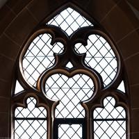 Heidelberg - Heiliggeistkirche - Südempore - 6. Joch, von Westen aus gezählt - Fenstermaßwerk (aufgenommen im Mai 2015, am Nachmittag)