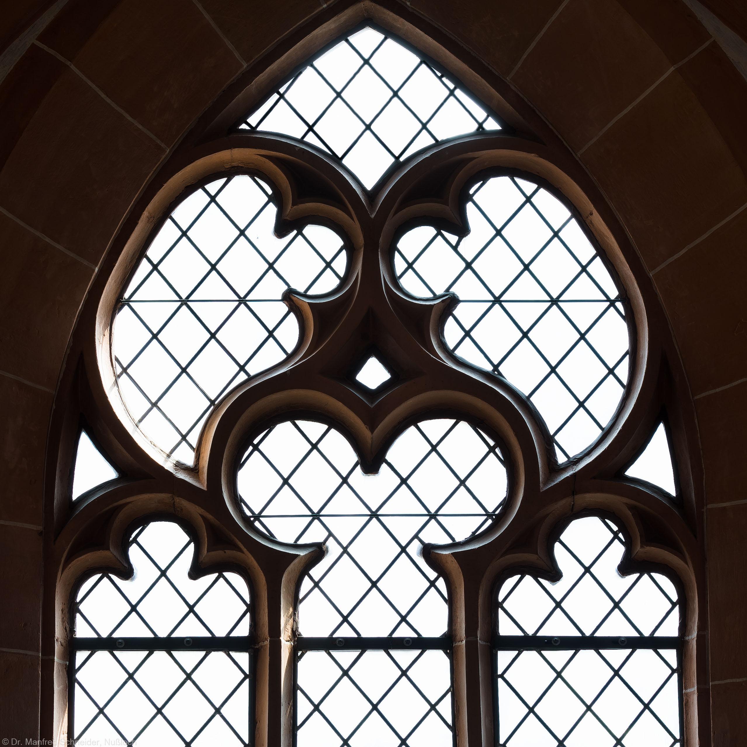 Heidelberg - Heiliggeistkirche - Südempore - 5. Joch, von Westen aus gezählt - Fenstermaßwerk (aufgenommen im Mai 2015, am Nachmittag)