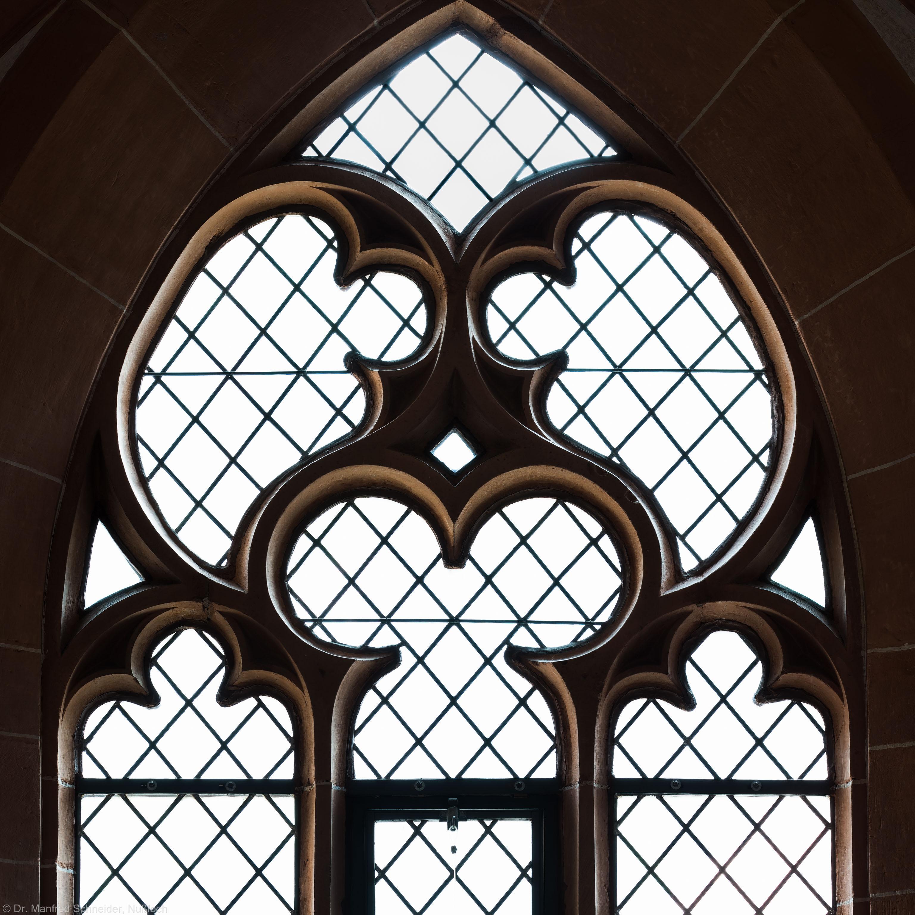 Heidelberg - Heiliggeistkirche - Südempore - 4. Joch, von Westen aus gezählt - Fenstermaßwerk (aufgenommen im Mai 2015, am späten Nachmittag)