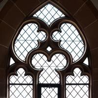 Heidelberg - Heiliggeistkirche - Südempore - 2. Joch, von Westen aus gezählt - Fenstermaßwerk (aufgenommen im Mai 2015, am späten Nachmittag)
