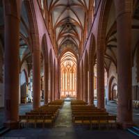Heidelberg - Heiliggeistkirche - Mittelschiff - Blick durch die Schiffe auf den Chor (aufgenommen im Juni 2015, am Vormittag)