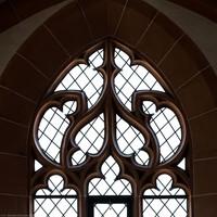 Heidelberg - Heiliggeistkirche - Westbau - Nordemporenebene - Nordwestseite - Fenstermaßwerk nach Norden (aufgenommen im Juni 2015, am späten Vormittag)