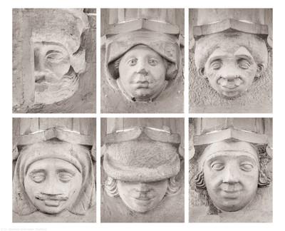 Heidelberg - Heiliggeistkirche - Südempore - Südseite - v.l.n.r., v.o.n.u: 6. bis 1. Figur am unteren Dienstabschluß, von Westen aus gezählt (aufgenommen im Juni 2015, nachmittags)