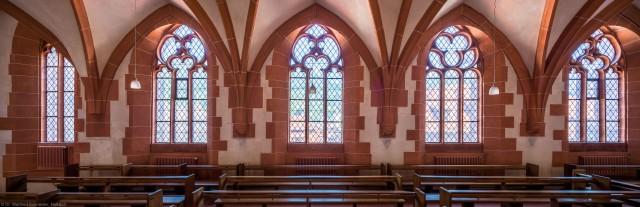 Heidelberg - Heiliggeistkirche - Nordempore - Blick von der Mitte der Nordempore nach Norden (aufgenommen im Juni 2015, um die Mittagszeit)