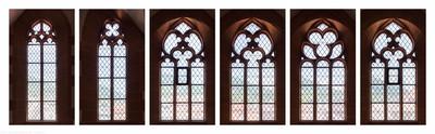 Heidelberg - Heiliggeistkirche - Nordempore - 1./2./3./4./5./6. Joch, von Westen aus gezählt - Fenster und Maßwerke (aufgenommen im Juni/Juli 2015, nachmittags)