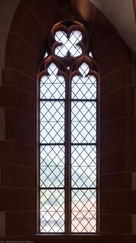 Heidelberg - Heiliggeistkirche - Nordempore - 2. Joch, von Westen aus gezählt - Fenster und Maßwerk (aufgenommen im Juni 2015, am Nachmittag)