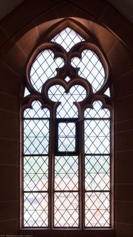 Heidelberg - Heiliggeistkirche - Nordempore - 3. Joch, von Westen aus gezählt - Fenster und Maßwerk (aufgenommen im Juni 2015, am Nachmittag)