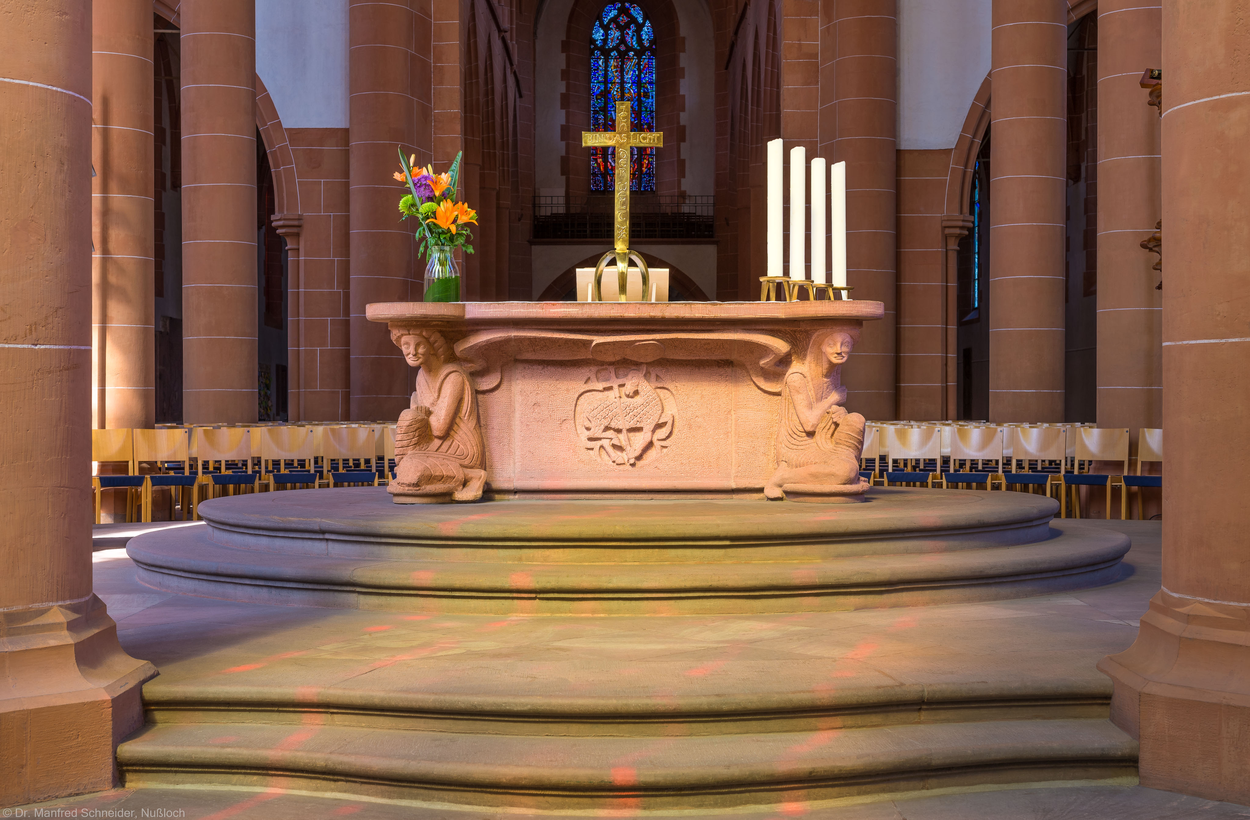 Heidelberg - Heiliggeistkirche - Altar - Ostseite des Altars von Edzard Hobbing (aufgenommen im Juni 2015, am Vormittag)