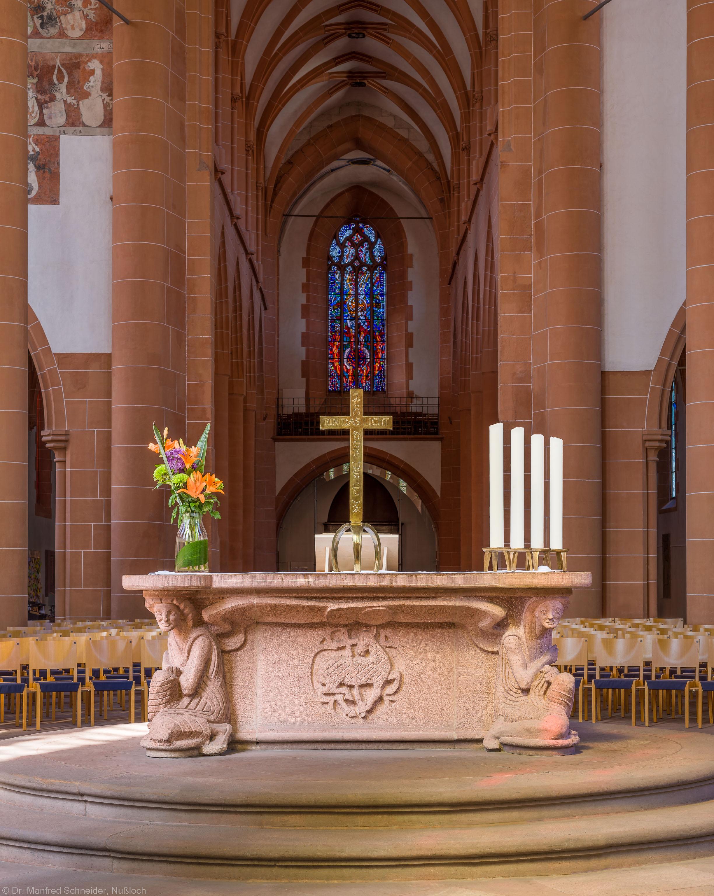 Heidelberg - Heiliggeistkirche - Altar - Ostseite des Altars von Edzard Hobbing (aufgenommen im Juni 2015, am späten Vormittag)