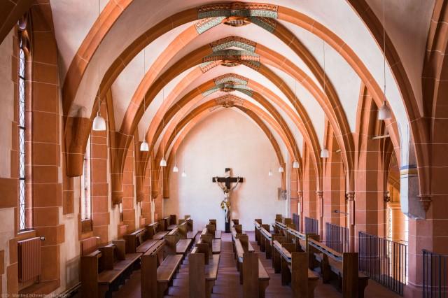Heidelberg - Heiliggeistkirche - Nordempore - Blick von Westen auf die Nordempore (aufgenommen im Juni 2015, am frühen Nachmittag)