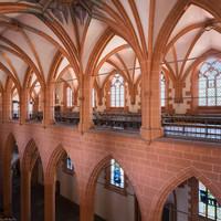 Heidelberg - Heiliggeistkirche - Nordempore - Blick vom Nordosten der Südempore auf die Nordempore und in das Nordschiff (aufgenommen im Juni 2015, am Nachmittag)