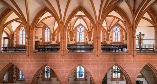 Heidelberg - Heiliggeistkirche - Nordempore - Blick von der Südempore auf die Nordempore und in das Südschiff (aufgenommen im Juni 2015, am Nachmittag)