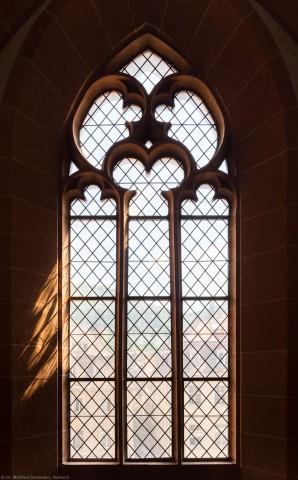 Heidelberg - Heiliggeistkirche - Südempore - 5. Joch, von Westen aus gezählt - Fenster und Maßwerk (aufgenommen im Juni 2015, am Nachmittag)