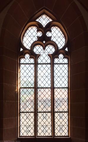 Heidelberg - Heiliggeistkirche - Südempore - 3. Joch, von Westen aus gezählt - Fenster und Maßwerk (aufgenommen im Juni 2015, am Nachmittag)