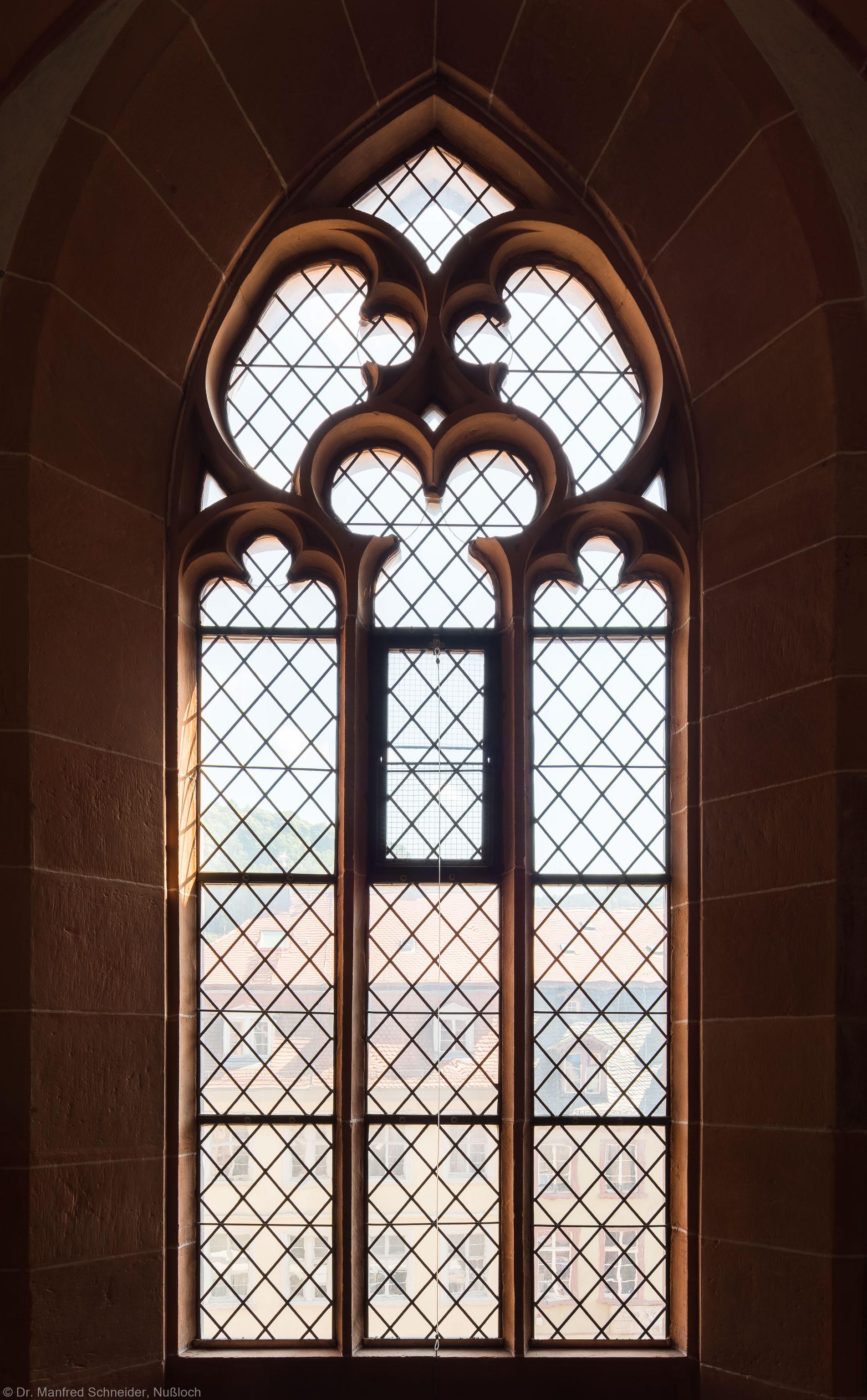 Heidelberg - Heiliggeistkirche - Südempore - 2. Joch, von Westen aus gezählt - Fenster und Maßwerk (aufgenommen im Juni 2015, am Nachmittag)