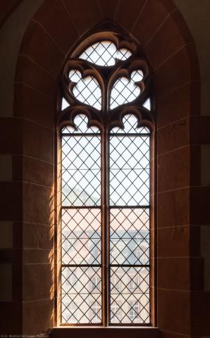 Heidelberg - Heiliggeistkirche - Südempore - 1. Joch, von Westen aus gezählt - Fenster und Maßwerk (aufgenommen im Juni 2015, am späten Nachmittag)