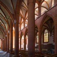 Heidelberg - Heiliggeistkirche - Nordschiff - Blick von Nordwesten in die Schiffe und auf die Südempore (aufgenommen im Juni 2015, am späten Vormittag)