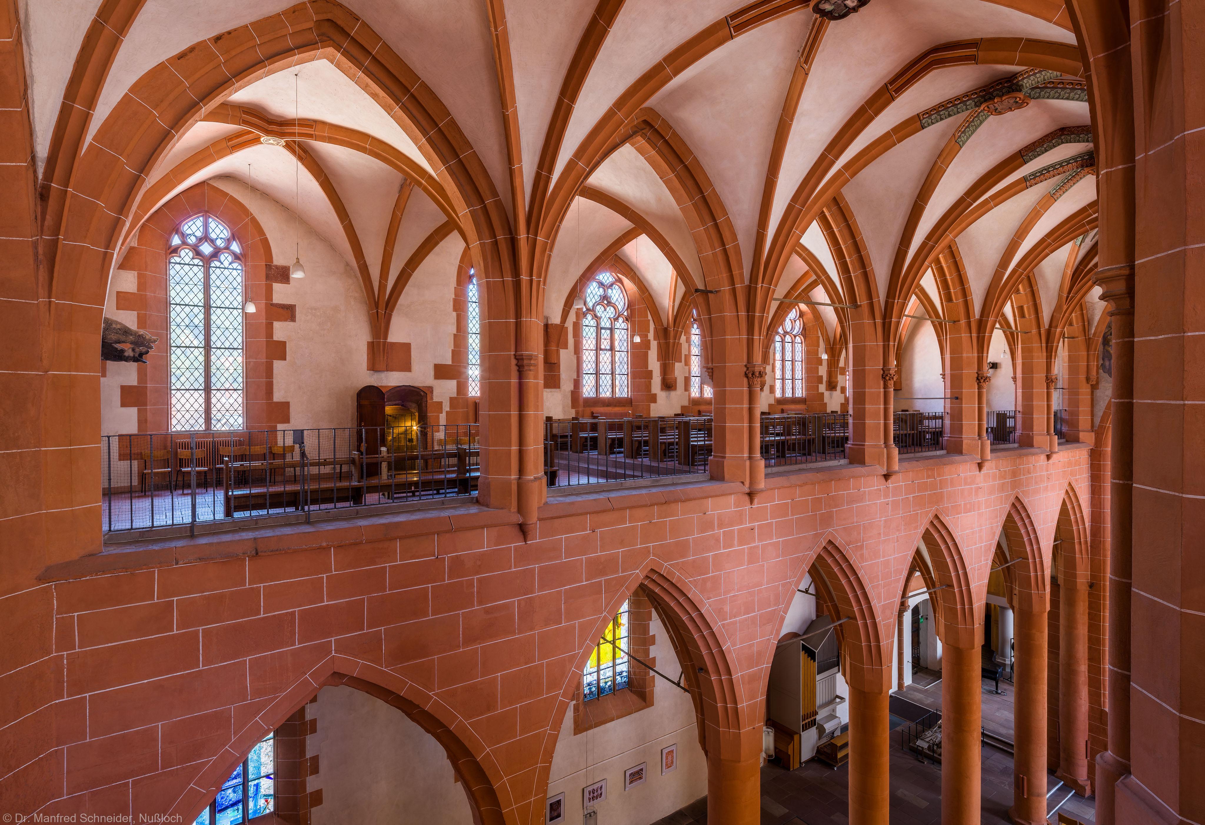 Heidelberg - Heiliggeistkirche - Nordempore - Blick vom Nordwesten der Südempore auf die Nordempore und in das Nordschiff (aufgenommen im Juli 2015, am frühen Nachmittag)