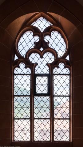 Heidelberg - Heiliggeistkirche - Nordempore - 6. Joch, von Westen aus gezählt - Fenster und Maßwerk (aufgenommen im Juli 2015, am frühen Nachmittag)