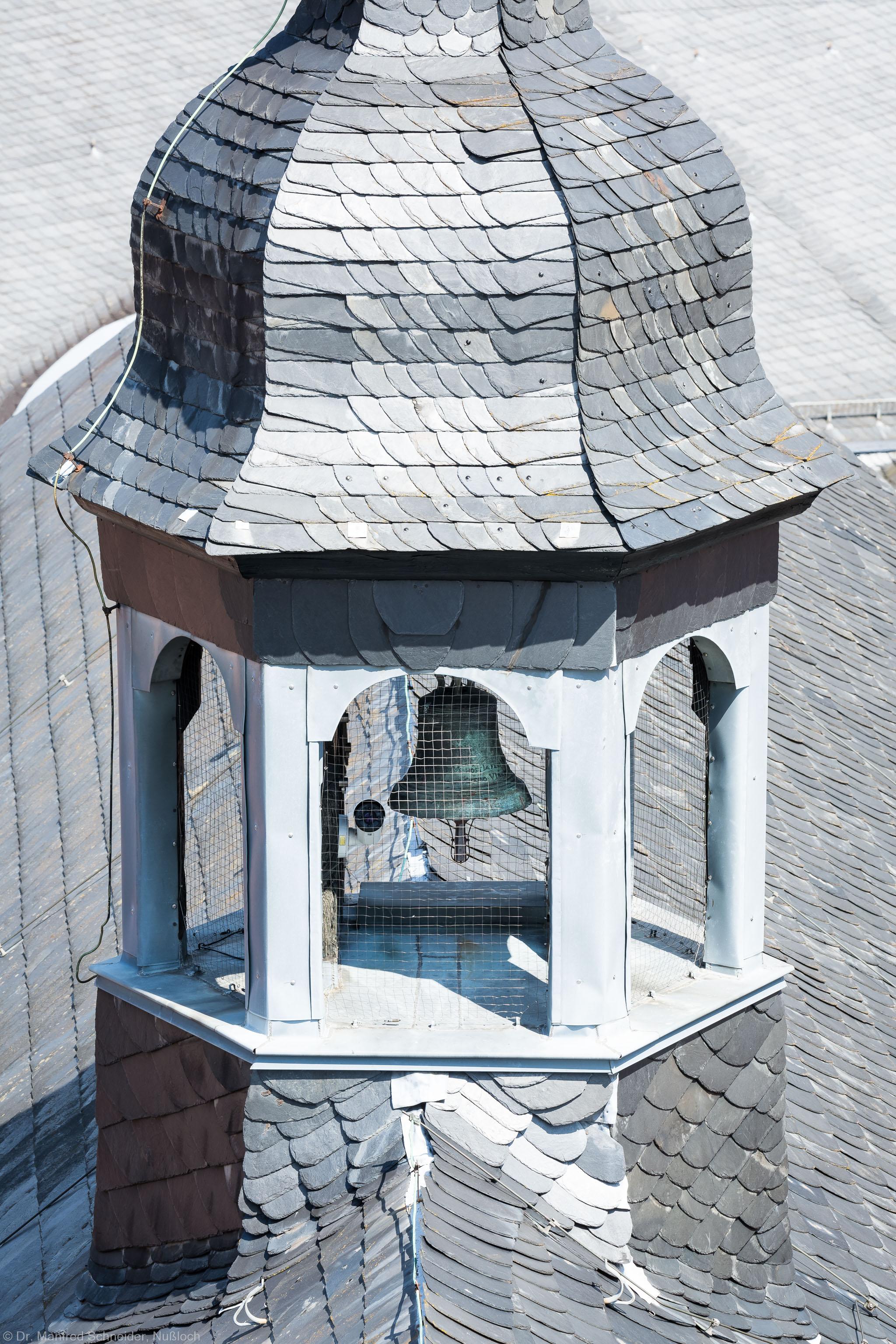 Heidelberg - Heiliggeistkirche - Dach - Blick auf den Dachreiter mit der Scheideglocke (aufgenommen im Juli 2015, am Nachmittag)