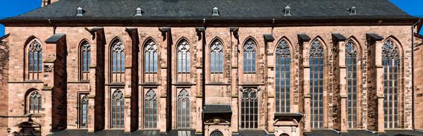 Heidelberg - Heiliggeistkirche - Südseite - Blick auf die gesamte Südseite, vom Westwerk bis zum Chor (aufgenommen im Oktober 2015, am frühen Nachmittag)
