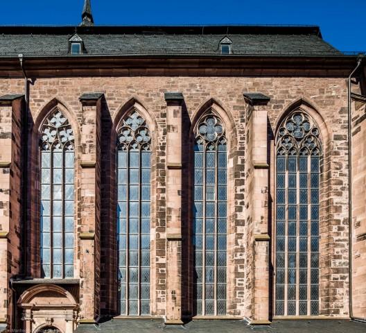 Heidelberg - Heiliggeistkirche - Südseite - Blick auf den südlichen Chor (aufgenommen im Oktober 2015, am Nachmittag)