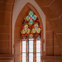 Heidelberg - Heiliggeistkirche - Chor - Südseite - 2. Maßwerk, von Südwest nach Nordwest gezählt, von Nordempore aus gesehen (aufgenommen im Oktober 2015, am Nachmittag)
