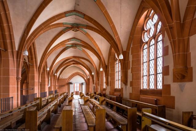 Heidelberg - Heiliggeistkirche - Nordempore - Blick von Osten auf die Nordempore (aufgenommen im Oktober 2015, am Nachmittag)